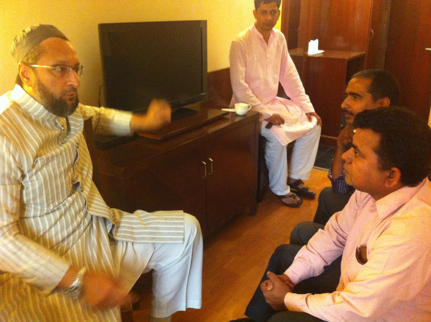 Asaduddin Owaisi with Irshadul Haque