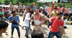 एएसआई अनिल कुमार की बेरहमी से हुई पिटाई( फोटो केशव कुमार)