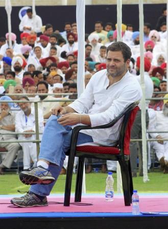 Rahul Gandhi in Chandigarh