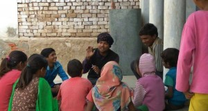 बच्चों के साथ शादान और वेदांत