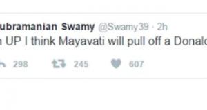 हंगामा होने पर स्वामी ने यह ट्विट हटा लिया और खेद व्यक्त किया