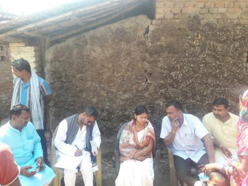 जिला पर्षद की अध्यक्षा अंजू देवी ने डाकबंगला परिसर में निरीक्षण किया