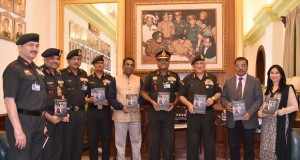 The Chief of Army Staff, General Bipin Rawat releasing the book 'Home of the Brave' on the history of Indian Army's Counter Insurgency Force, the Rashtriya Rifles (RR), in New Delhi on March 27, 2017.