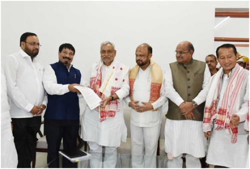 Nitish Meets AGP leader in Patna