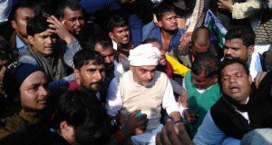 upendra kushwaha injured during lathi charge