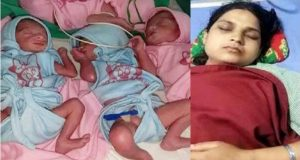 Mother gives birth Four babies lockdown